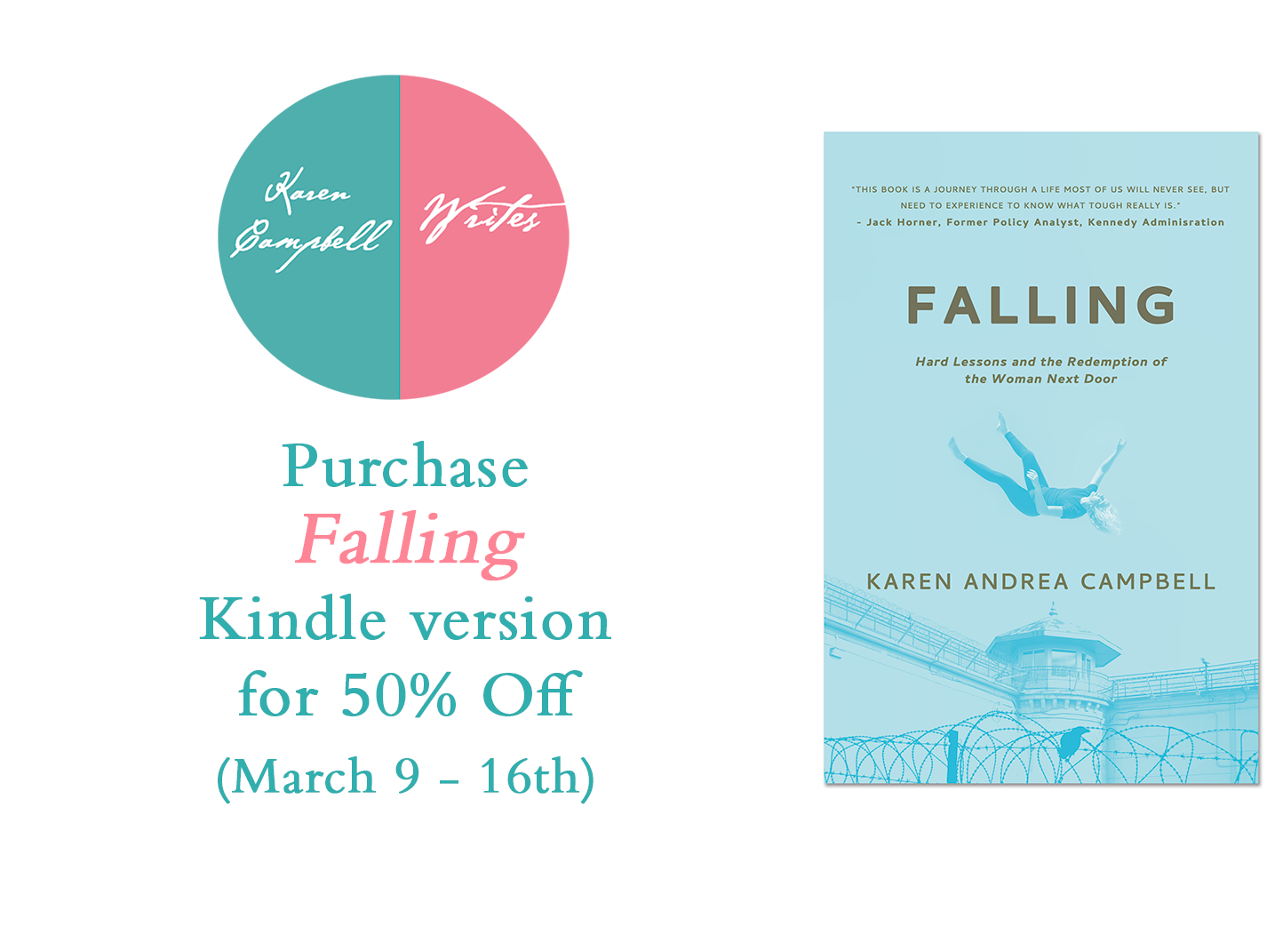 Kindle version of Falling Half Off Until May 16th